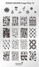 KONAD XL Square 10 Stamping Schablone Plate Nailart Weihnachten X-Mas Eis schnee