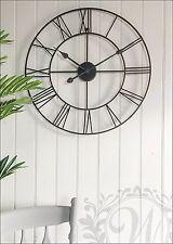 Black Metal Frame Roman Numeral Skeleton Wall Clock 60 Cm Part 90