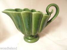 Shell Shaped Green Pottery Planter 326 USA