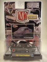 M2 Machines Auto-Thentics 1951 Ford Crestliner Black & Red NEW 1:64 R 2 08-22