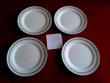 4  superbes assiettes à dessert anciennes Sarreguemines Nobilis, Lot 1