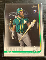 Nick Martini RC SP Photo Variation 2019 Topps #618 Oakland Athletics