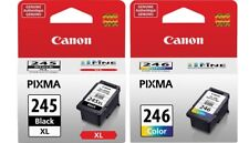 Genuine Canon PG-245 XL High Capacity Black  + CL-246 Color Ink Cartridges