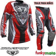 Jersey de motocross color principal rojo