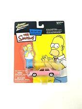 Johnny lightning The Simpsons Homer's Sedan Pink Car 1/64 Die Cast