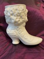 "Vintage Ceramic Victorian Boot Vase Planter 5.75"" Shabby Chic 1971 Secret Pal"