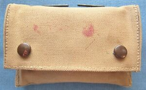 """RARE! Original pre-1910 US first aid pouch by """"R.I.A.,"""" dated 1905; w/dressing"""