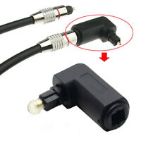 Digital Optical 90 Degree Audio Cable Toslink Adapter Male To Female PC TV DVD