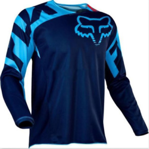 New Men's FOX Tops Jersey Long Sleeve Shirt Racing Off-Road Mountain Bike Jersey