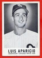 1960 LEAF #1 Luis Aparicio VG-VGEX Chicago White Sox HOF FREE SHIPPING