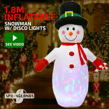 Inflatable Christmas Snowman W/ Disco Light 1.8M Xmas Decoration Outdoor