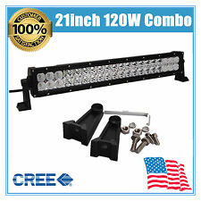 "120W 21"" INCH CREE LED LIGHT BAR SPOT &FLOOD DRIVING LAMP OFFROAD BOAT SUV LAMP"