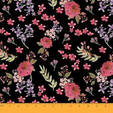 Her /& History Georgette´s Secret Garden Art Gallery Fabrics Rayon dunklegrün