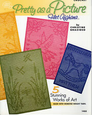 """""""5~STUNNING FILET AFGHANS""""~Crochet PATTERN BOOK ONLY~SEE PICTURES~NEW"""