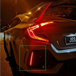 For Honda Civic FK8 Type R LED Lights for Tailights Rear Bumper Lamp 3-function
