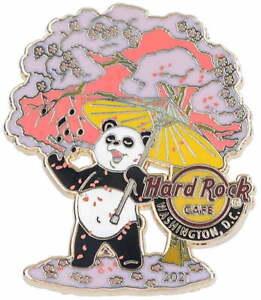 Hard Rock Cafe WASHINGTON DC 2021 Cherry Blossom PIN Panda Parasol & Tree LE 200