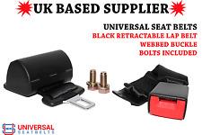 Universal Retractable Lap Belt & 30cm Webbed Buckle End E4. UK VAT Inc UK Stock
