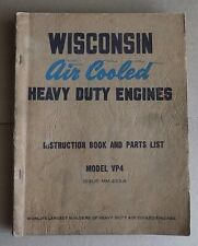 Wisconsin Heavy Duty 4 Cylinder Engine Vp4D Manual Parts List Mm 233A