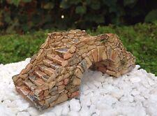 Miniature Dollhouse FAIRY GARDEN Accessories ~ Brown Cobblestone Bridge ~ NEW
