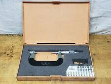 Mitutoyo 2 3 Screw Thread Pitch Micrometer With Tips No 126 139