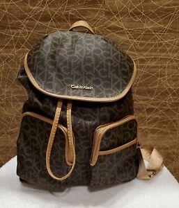 Calvin Klein Signature Luggage Backpack, Tan
