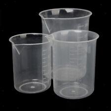 3X Messbecher Polypropylen Becherglas Küche Labor Messkanne - 100ML 150ML 250ML
