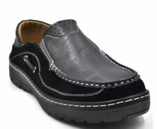 Tanggo Abhisar Formal Shoes Leather Brown Shoes Slip-On for Men BLACK SIZE 40