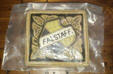 Falstaff 1960's NOS Ornate Pin Back Patch - 35 Year Plant Managers Collection