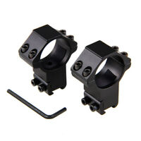 2x 30mm QD Rial Gun Barrel Ring Mount For 11mm Sight Scope Gun Flashlight