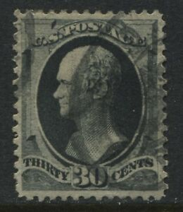 USA 1873 30 cent Alexander Hamilton grey black Very Fine used (JD)