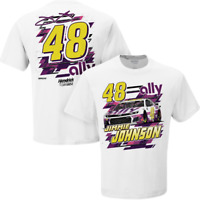 Jimmie Johnson 2020 Ally Financial White NASCAR T-Shirt M-XL IN STOCK