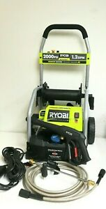 RYOBI RY141900 2000 PSI 1.2 GPM Electric Pressure Washer with 3 nozzles, L.N