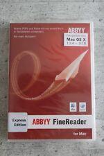 ABBYY FineReader Express Edition-MAC-DE/EN/FR + Multilingual-DVD/BOX NUOVO