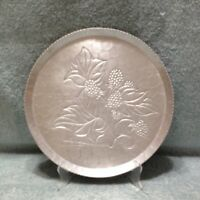 "Kraftware Vintage  9 3/4 "" Hammered Aluminum Round Fruit Theme  Metal Plate"