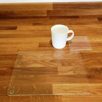 """Rectangle Shaped Clear Gloss Acrylic Placemats & Coasters - 11.5x8.5"""" or 16x12"""""""