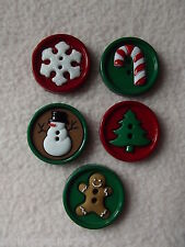 Robe it up boutons ~ ~ Collection de Noël Sew Fun ~ Bonhomme de neige, arbre, cane, +