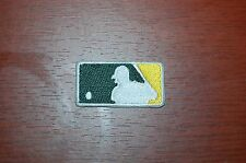 "Oakland Athletics A's 1 5/8"" MLB Patch Shield Green/Yellow Baseball"