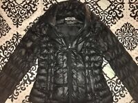 Women's KENNETH COLE Reaction Black Zip Up Lightweight Puffer Jacket~Size Medium