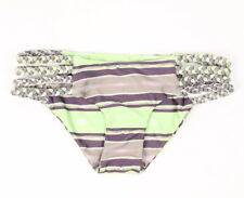 Tori Praver Womens Shyla Bikini Bottom Green Purple S New