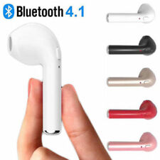 AURICOLARE Bluetooth Ear Cuffie Stereo Per Apple iPhone 7-6s se i-Pad! BIANCO