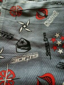 GI Joe 'Snake Eyes & Storm Shadow' Fannel Fabric, Hasbro, 2010, 1 1/2 Yds.