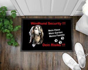 Fußmatte Schmutzfangmatte Türmatte Hundebesitzer Hund Windhund Dog Geschenk
