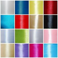 CHEAPEST Double Sided Satin Ribbon Cut Lenght 6mm 12mm 25mm 38mm 50mm 17 COLOURS