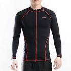 Belleap Rash Guard Mens Zip-up Long Sleeve Swimwear UV Protection 0306