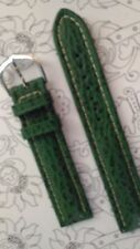 BRACELET  DE MONTRE watch band  /// cuir   COBRA   vert  18mm  /KF18