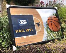 Bud Light Ncaa West Virginia Mountaineers College Basketball Beer Bar Mirror