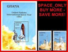 Ghana 1992 Space Year set + S/S (block) Cv$8.75 Mnh