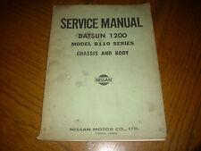 DATSUN 1200 série B110 Châssis & Body service manual 1972