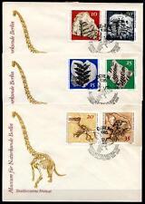 Paläontologische Sammlungen,Museum Berlin. Dinosaurier. 3FDC. DDR 1973