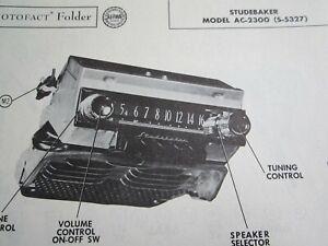 1953 STUDEBAKER AC-2300, (S-5327) RADIO PHOTOFACT